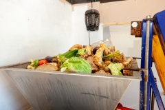 Food waste collected from supermarkets brought to GoTerra facilities in Canberra, Australia