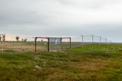The predator free fence running mourned Tiverton Farm in Victoria, Australia