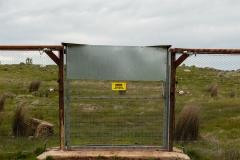 The electrified predator free fence on Tiverton Farm, Victoria, Australia