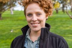 Casey Harris , Odonata CEO on the land of Tiverton farm in Victoria, Australia.