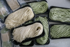 Organic fresh noodles. Shared Harvest is an organic farm promoting the CSA / Community Shared Agriculture model. Since the program started in May 2012, Shared Harvest has developed and now posseses 66 acres based in Tongzhou and Shunyi Districts in Beijing, planting organic vegetables, fruit and grains and also breeding livestock.